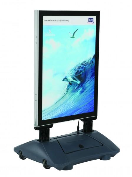 Kundenstopper WindPro® LED - wasserfest
