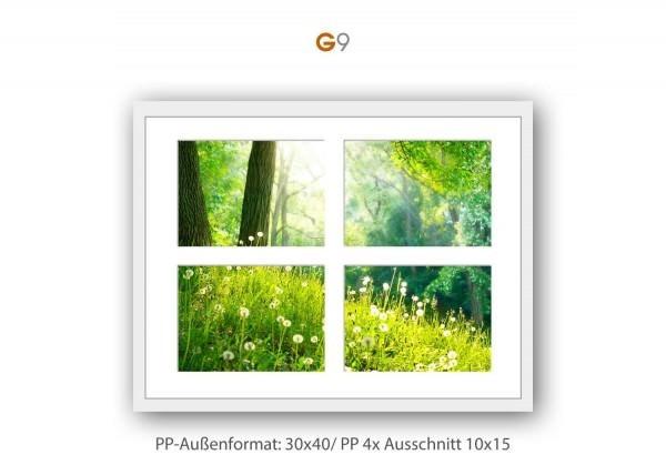 Galerie Passepartout G9 - 30x40/ PP 4x 10x15 cm