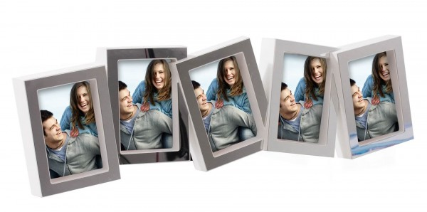 Fotorahmen La Vita weiss für 5 Bilder