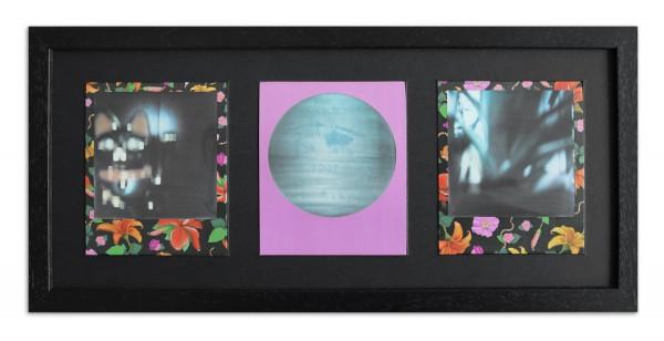 Polaroid Galerierahmen für 3 Sofortbilder - Typ 600 inkl. Passepartout / schwarz