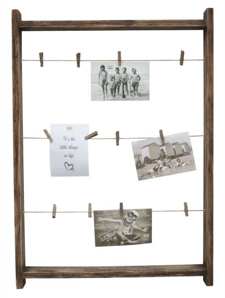 Holz Galerierahmen Scala mit Wäscheklammern