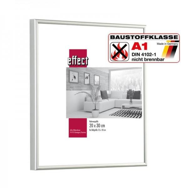 Brandschutzrahmen Alu rund S1 silber/schwarz / Klassifiziert A1