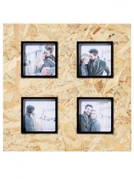 Holz Galerierahmen CHIP natur/ schwarz für 4 Fotos