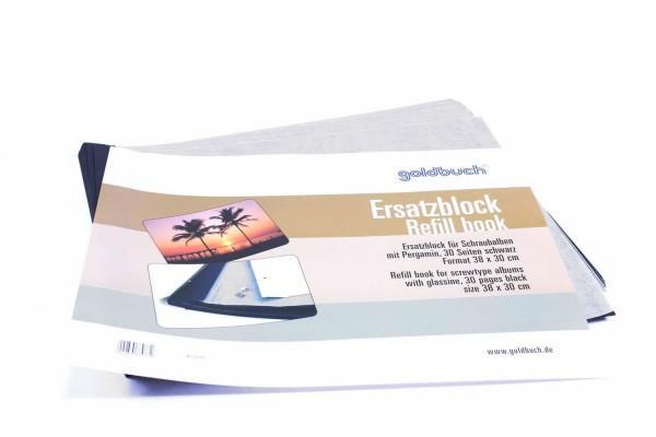 Erweiterungssatz für Schraubalbum schwarz 38X30 cm