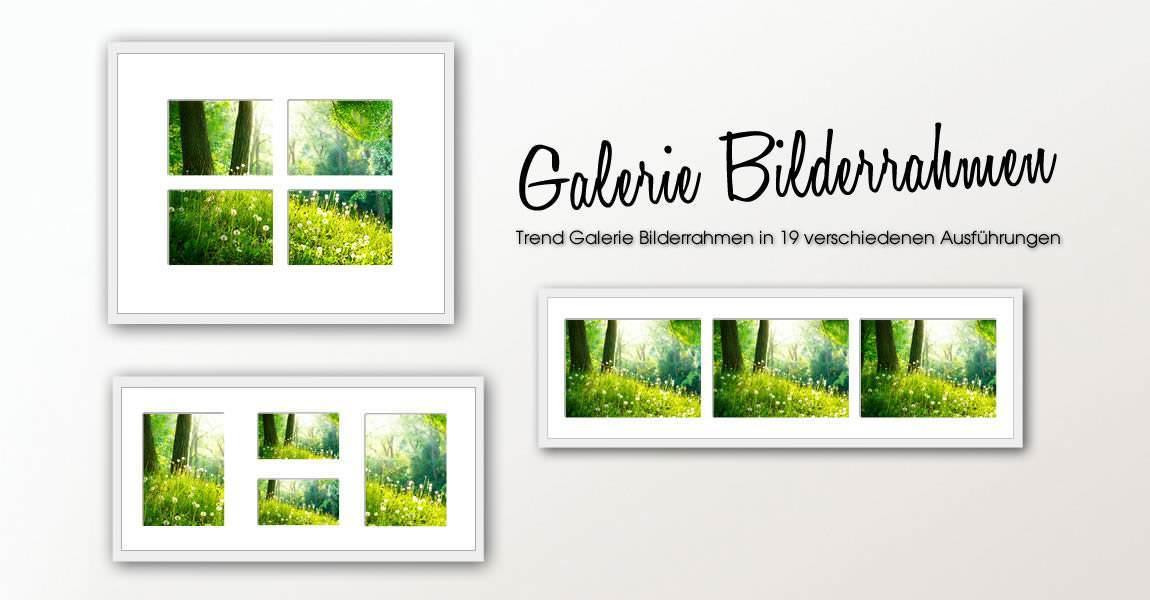 Die neuen Trend Galerie Bilderrahmen | Bilderrahmen-kaufen.de