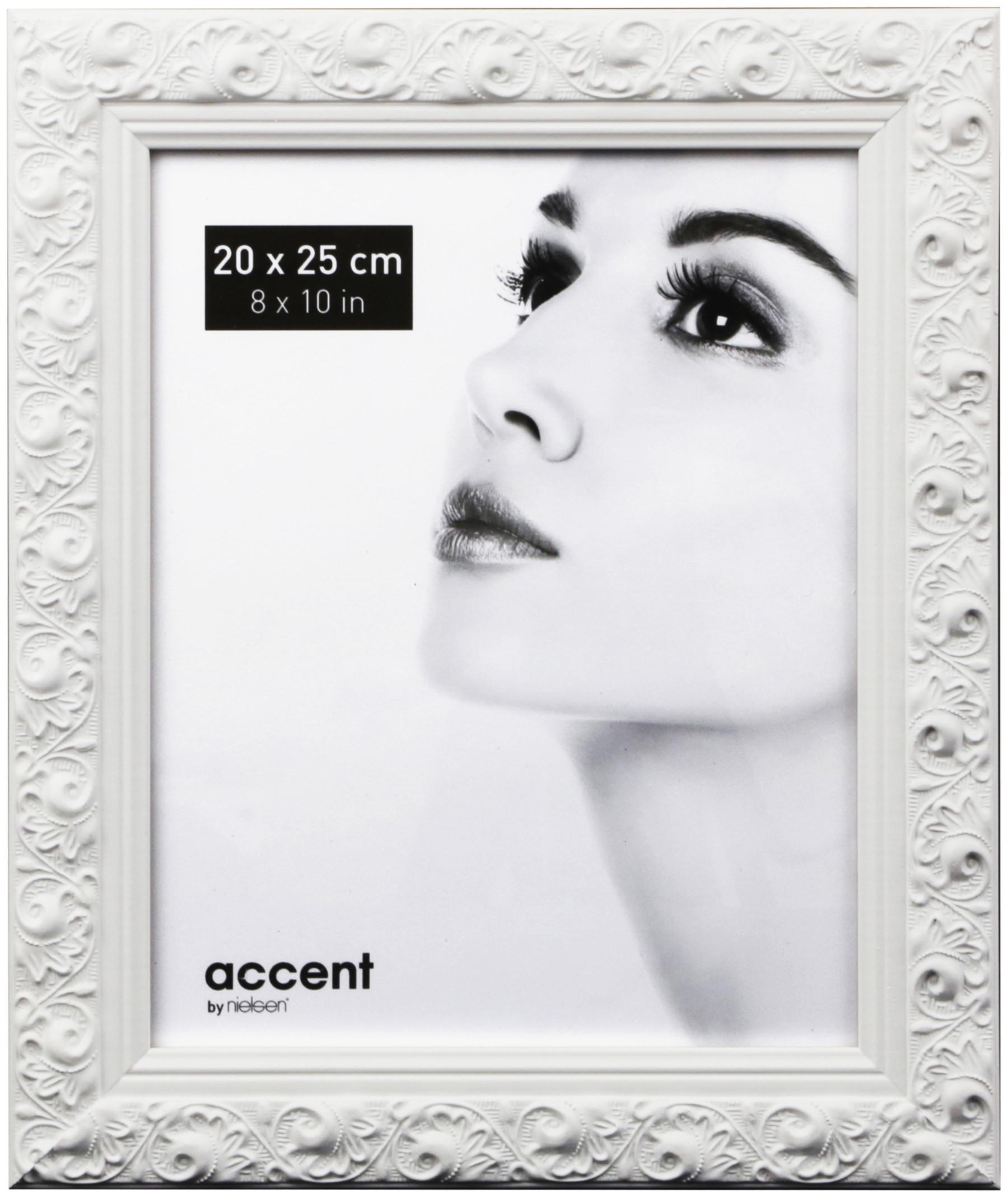 Nielsen Arabesque Bilderrahmen Format 20x25 cm silber Holz Portrait Fotorahmen